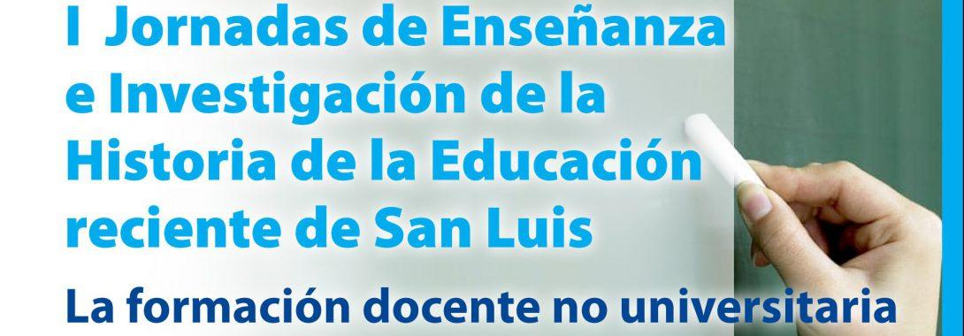 JORNADAS SOBRE HISTORIA RECIENTE DE LA EDUCACIÓN